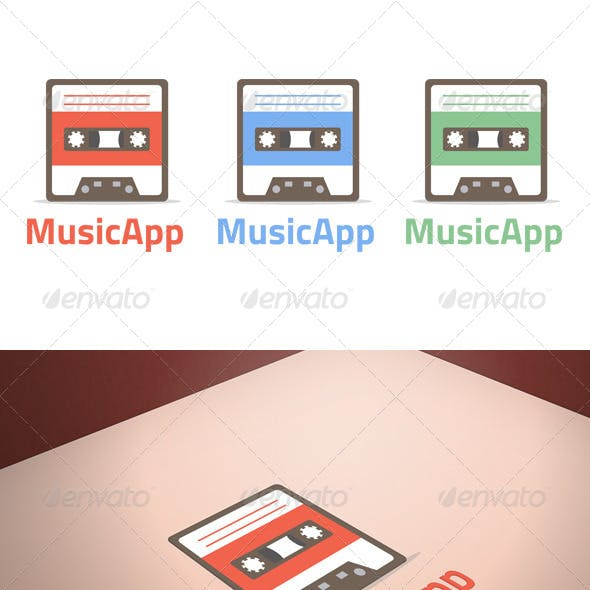 Music App Logo Template