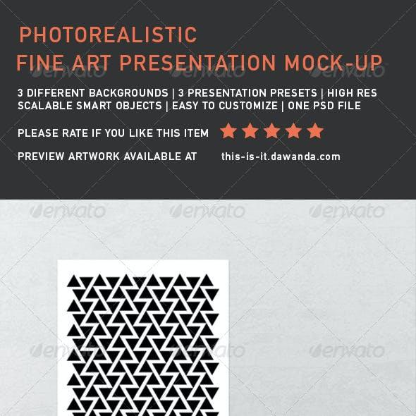 Fine Art Presentation Mock-Up