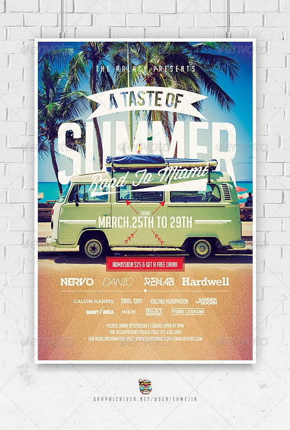 A Taste of Summer Flyer Template - Events Flyers