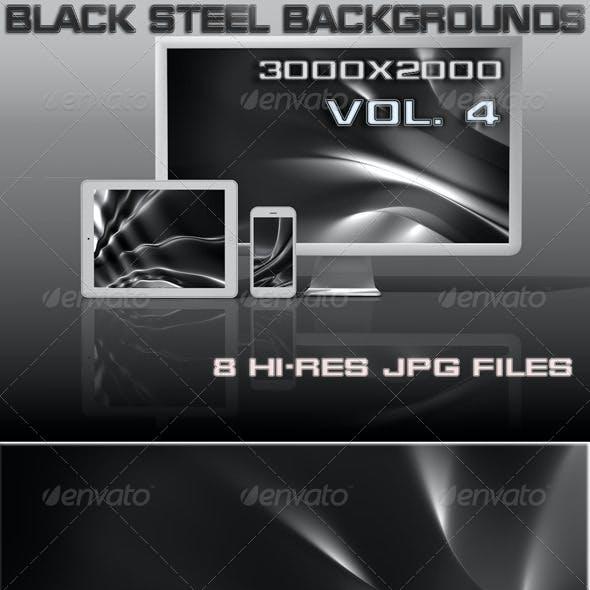 Black Steel 3D Background