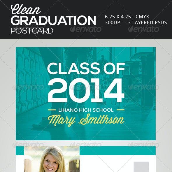 Clean Graduation Postcards