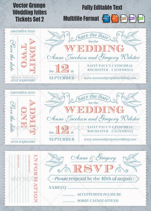 Wedding Invites Set 2 - Weddings Seasons/Holidays
