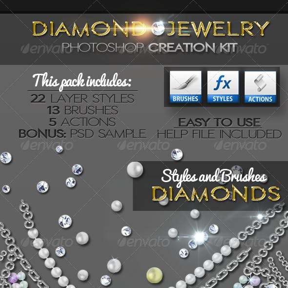 Diamond Gold Silver and Pearls Jewelry Creator