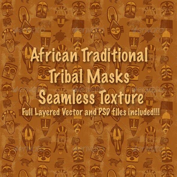 African Tribal Mask Pattern