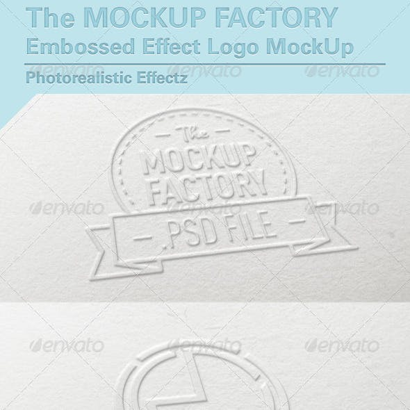 Embossed Effect Logo MockUp