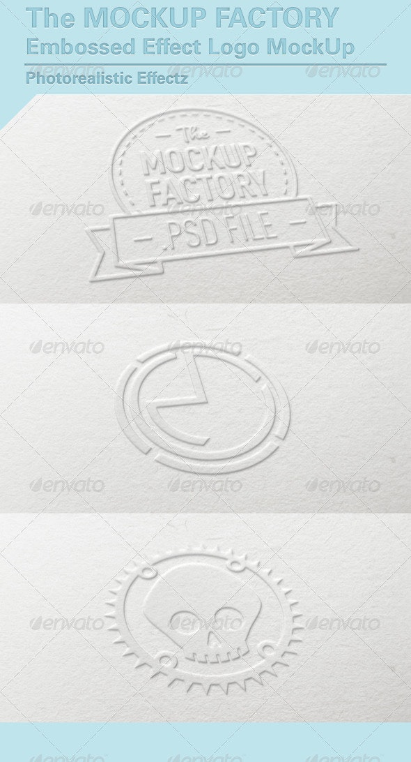 Embossed Effect Logo MockUp - Logo Product Mock-Ups