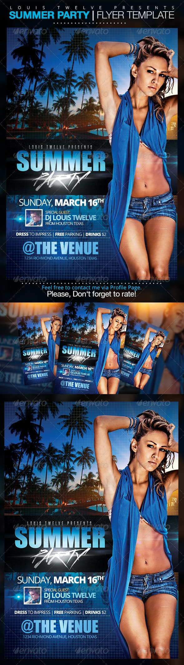Summer Party | Flyer Template - Clubs & Parties Events