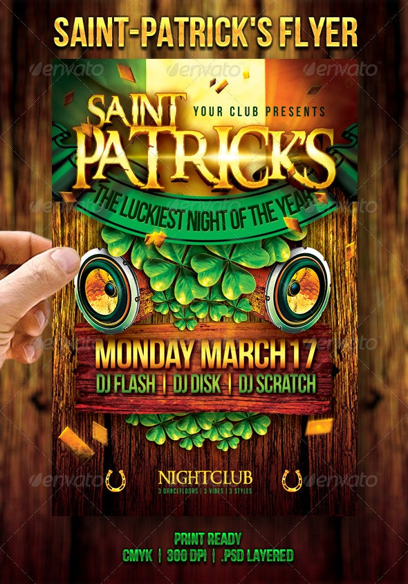 Saint-Patrick's Flyer - Events Flyers
