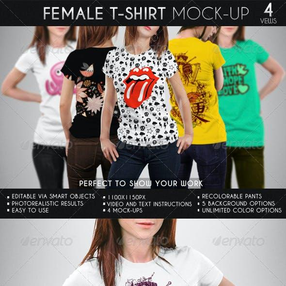 Female T-Shirt Mock-Up