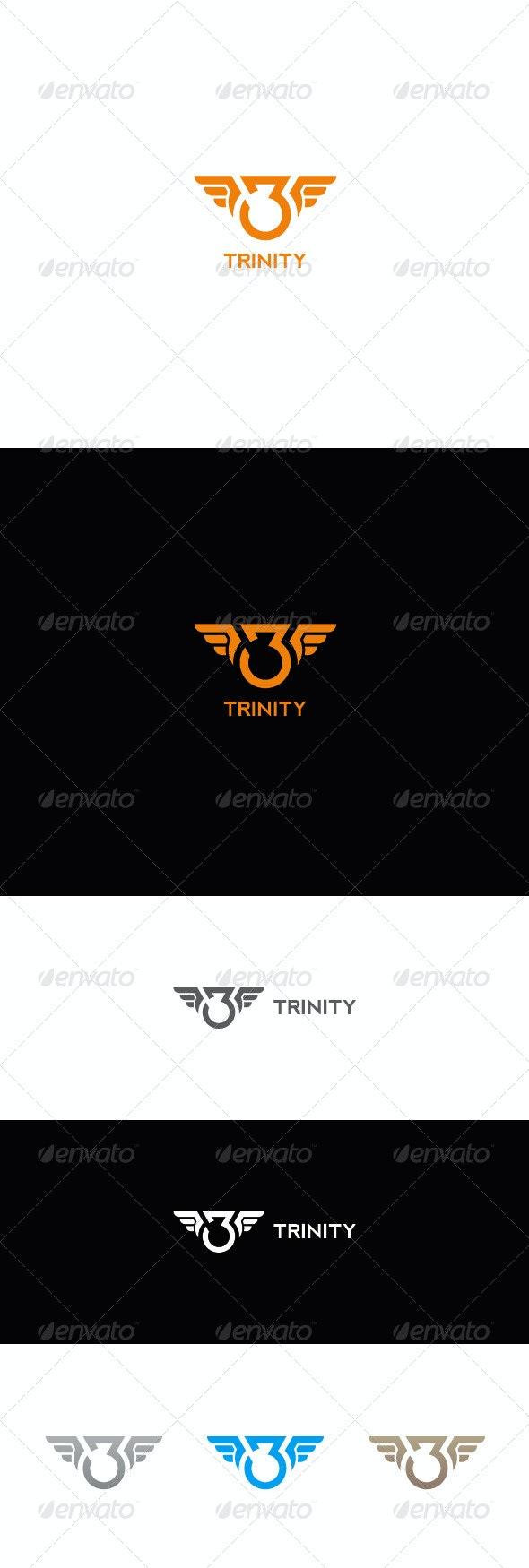 Number Three Logo | Trinity - Numbers Logo Templates
