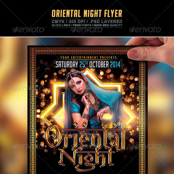 Oriental Night Flyer PSD Template