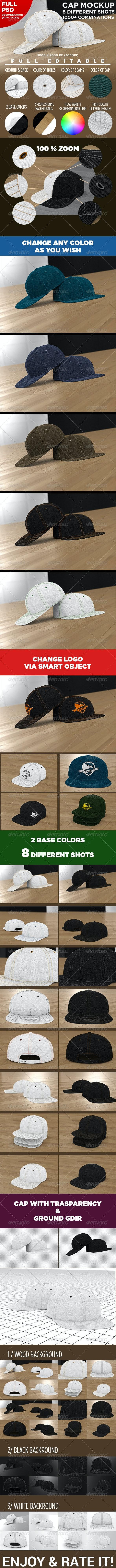 Professional Baseball Cap Mock-up - Miscellaneous Apparel