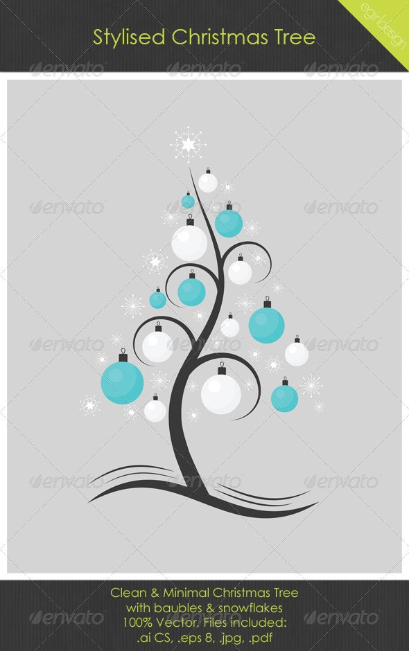 Stylised Christmas Tree - Christmas Seasons/Holidays