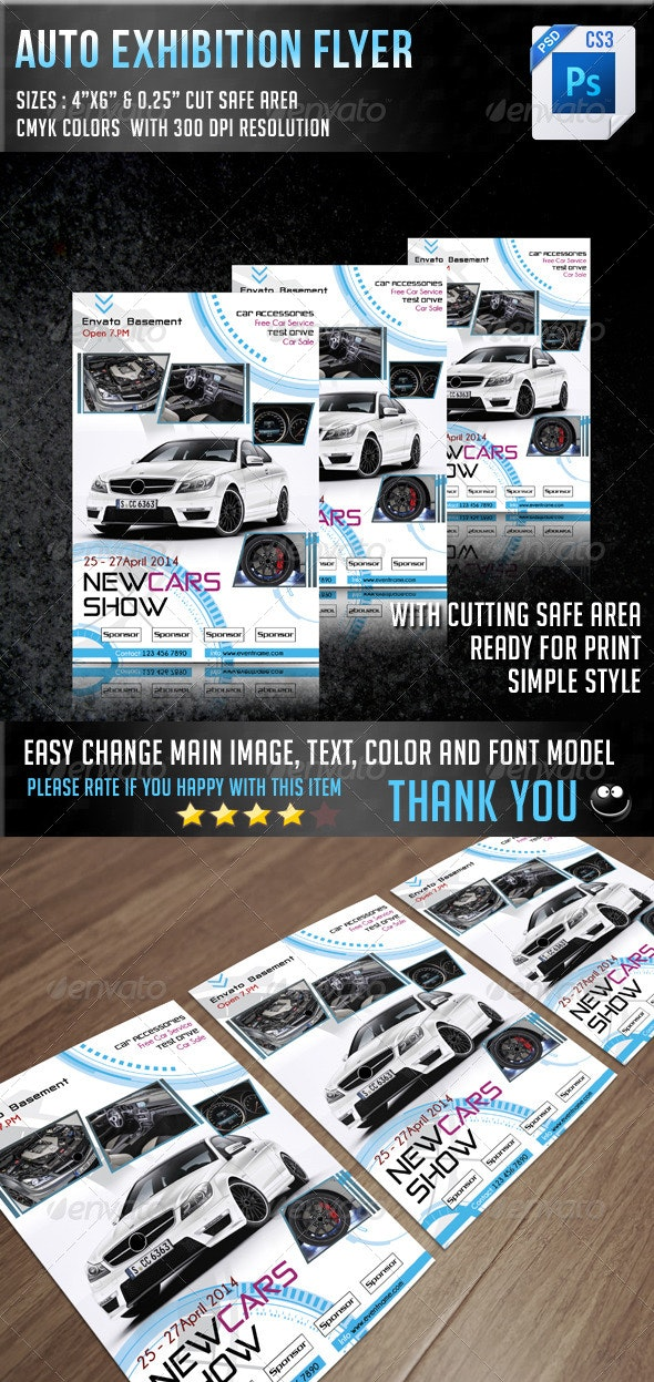 Auto Exhibition Flyer V8 - Events Flyers