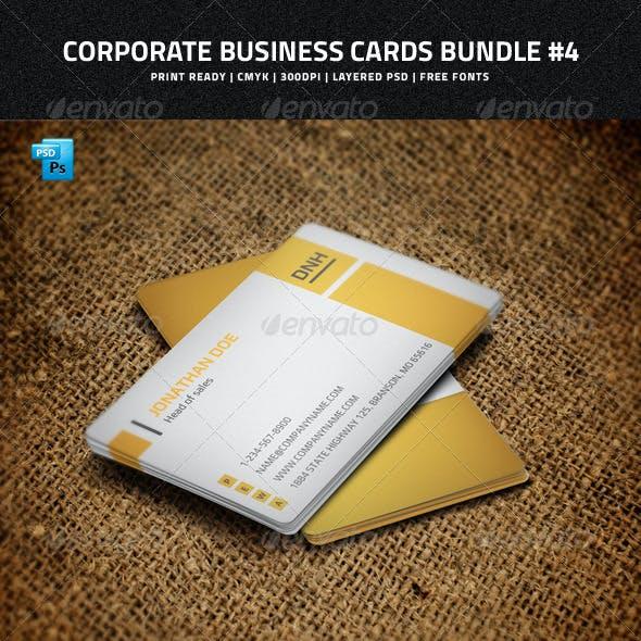 Corporate Business Cards Bundle #4