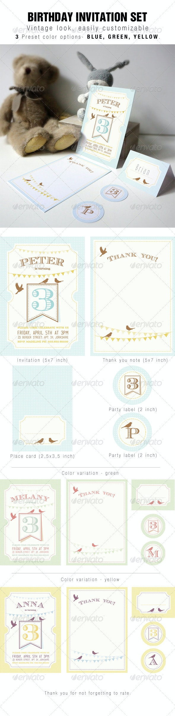 Birthday Invitation - Cards & Invites Print Templates