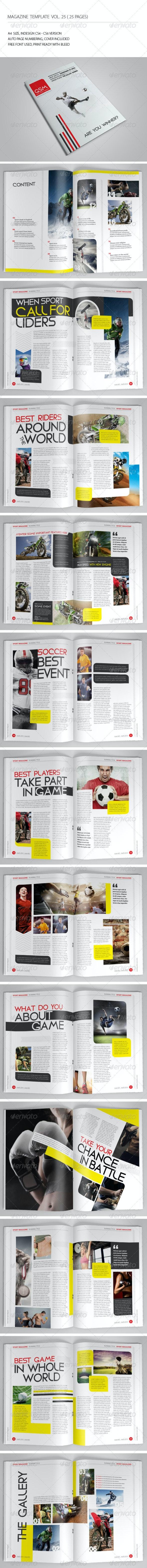 25 Pages Sport Magazine Vol25 - Magazines Print Templates