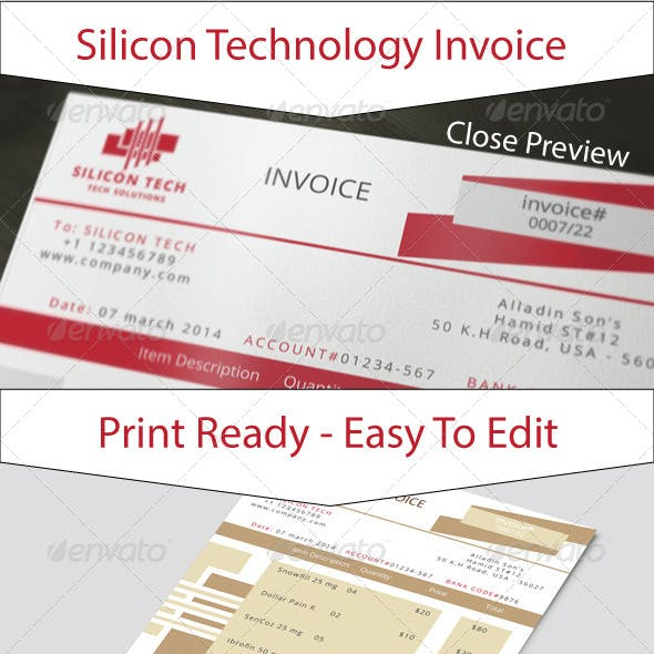 Silicon Technology Business Invoice