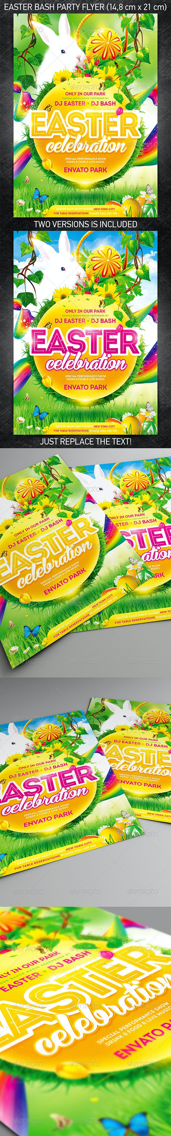 Easter Bash Party Flyer - Holidays Events