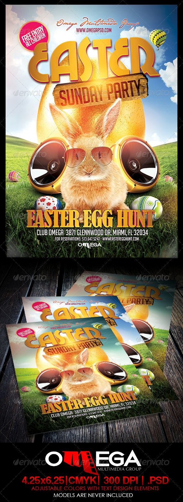 Easter Sunday Party - Events Flyers
