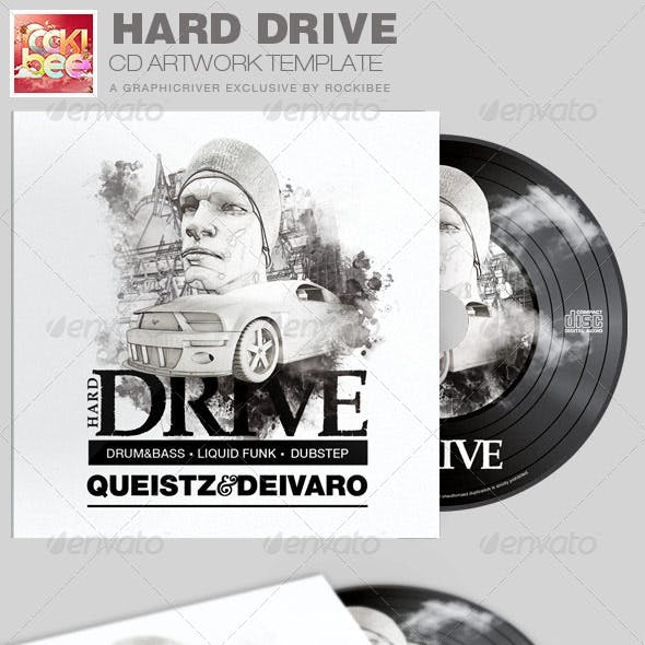 Hard Drive CD Artwork Template