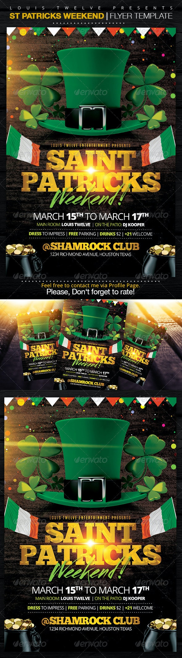 St Patricks Weekend | Flyer Template - Clubs & Parties Events