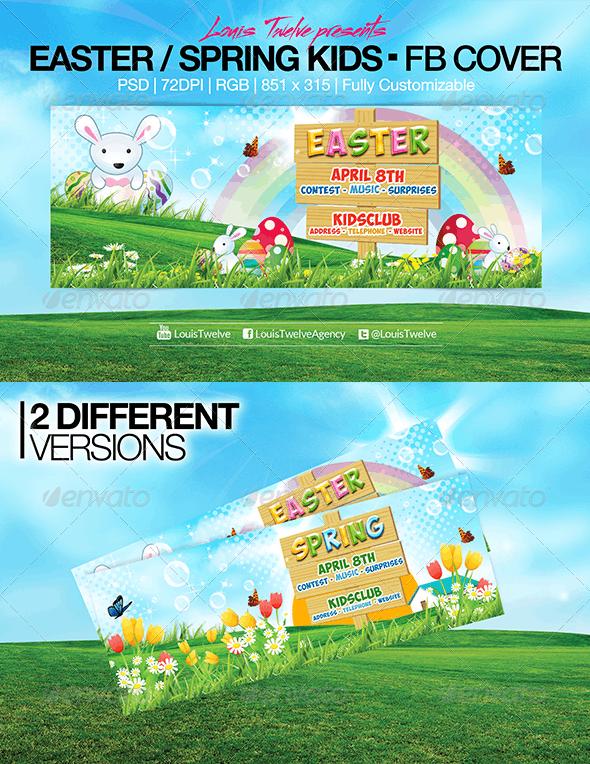 Easter Kids - Spring   Facebook Covers - Facebook Timeline Covers Social Media