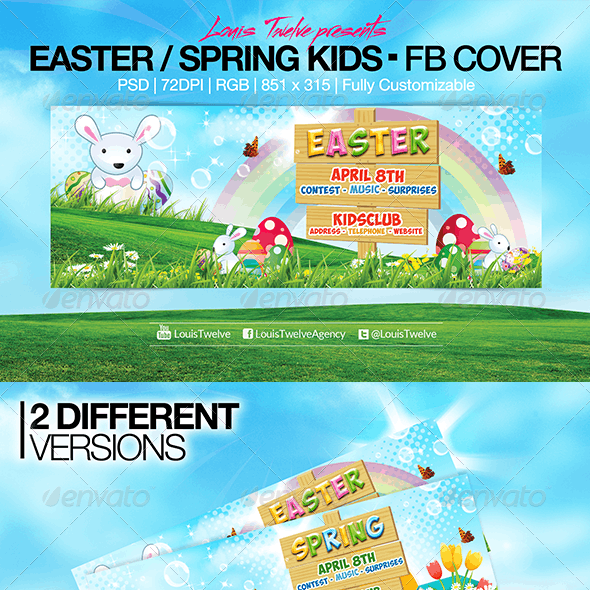 Easter Kids - Spring | Facebook Covers