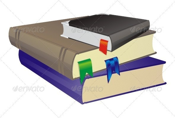 Stack Of Books. - Objects Vectors