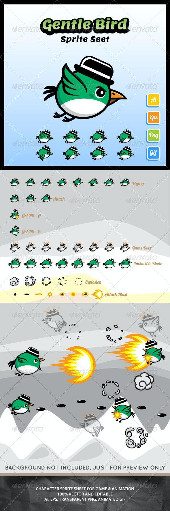 Gentle Bird Sprite Sheet - Sprites Game Assets