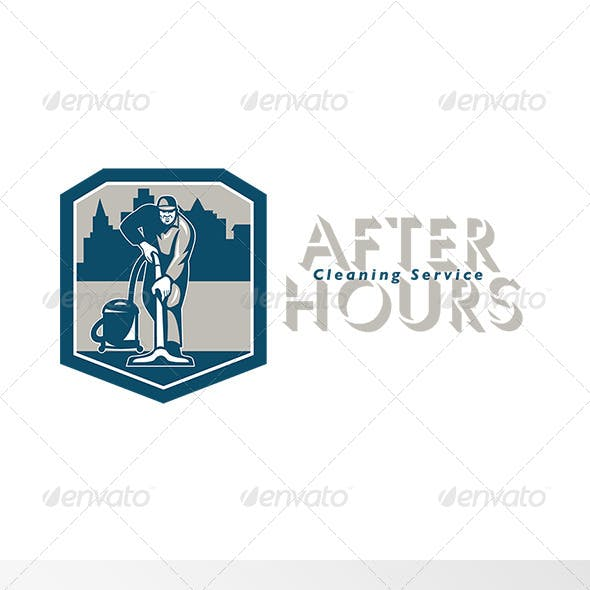 After Hours Cleaning Service Logo