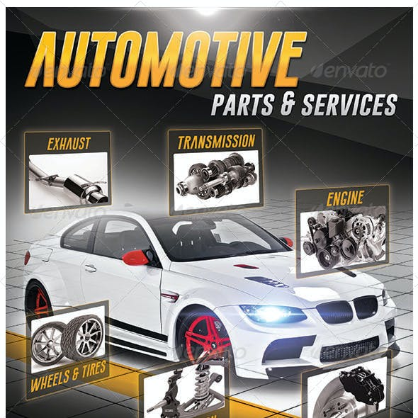 Automotive Parts & Services Flyer
