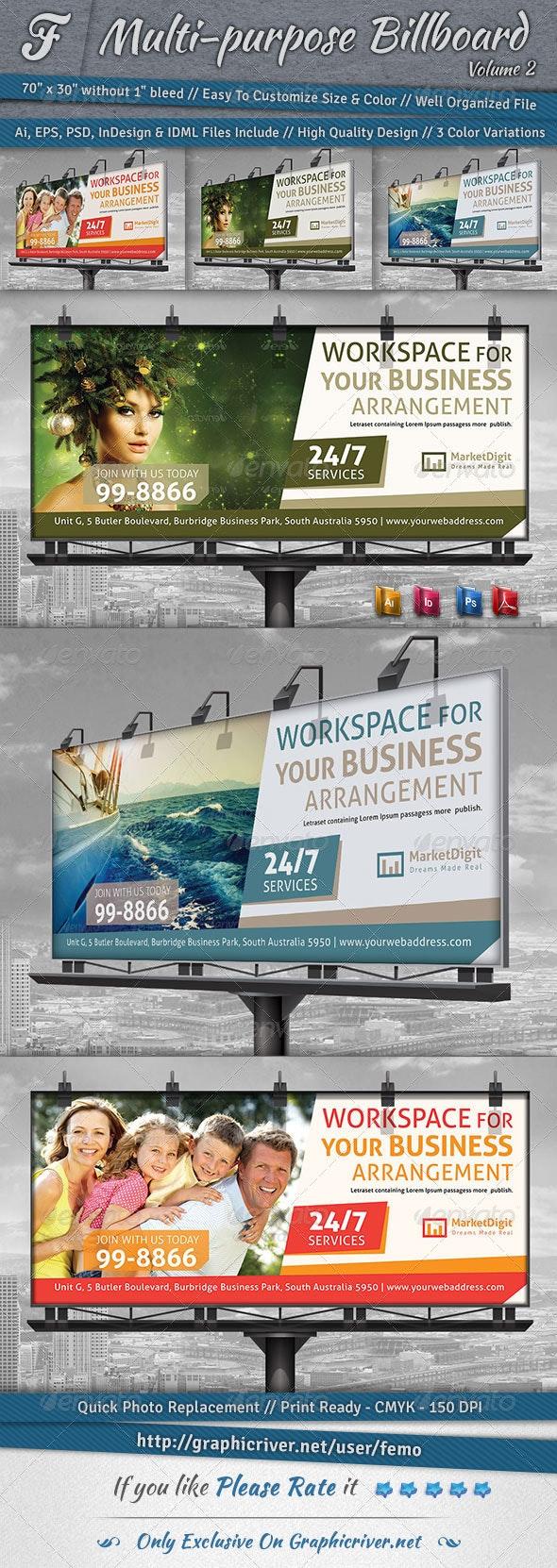 Multi-purpose Billboard | Volume 2 - Signage Print Templates