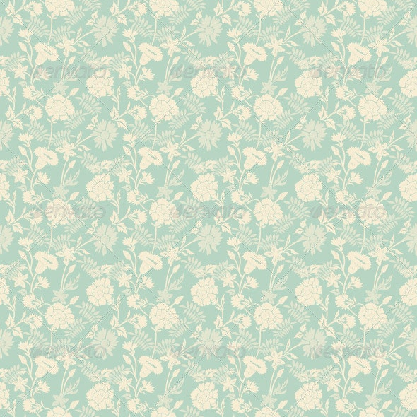 Seamless Abstract Floral Pattern Background - Patterns Decorative