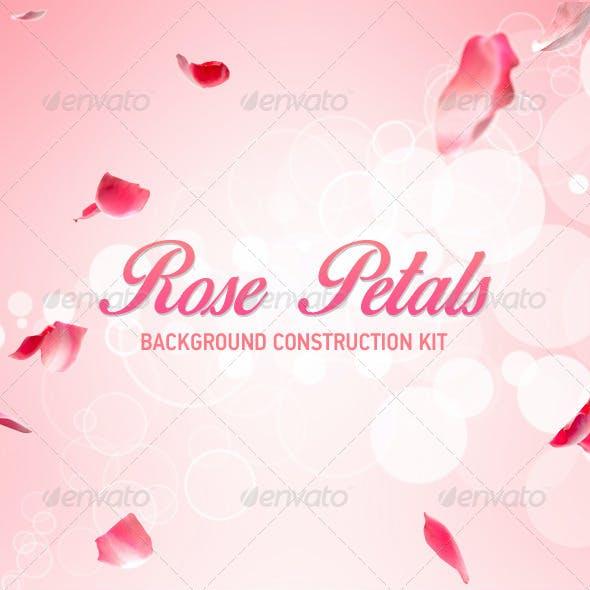 Rose Petals Background Construction kit