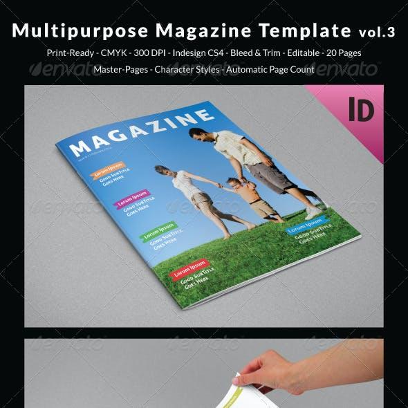 Multipurpose Magazine Template Vol.3