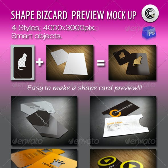 Shape BizCard Preview Mock-ups