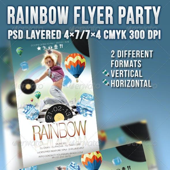 Rainbow Flyer Party