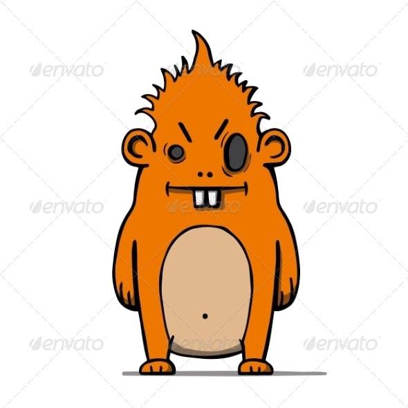 Cartoon Hairy Monster