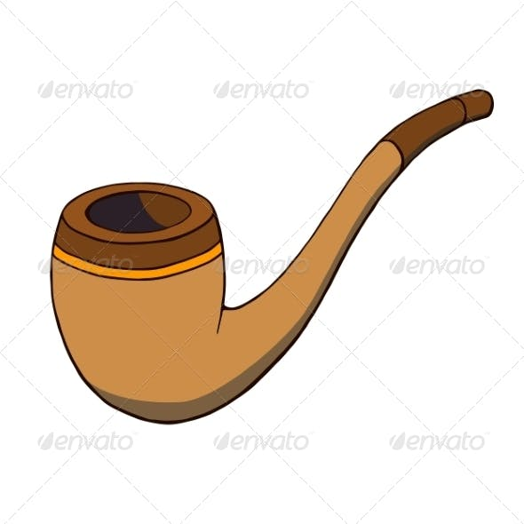 Cartoon Tobacco Pipe