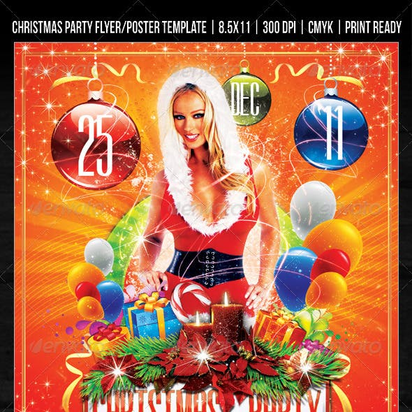 Christmas  Party / Concert Flyer / Poster Design