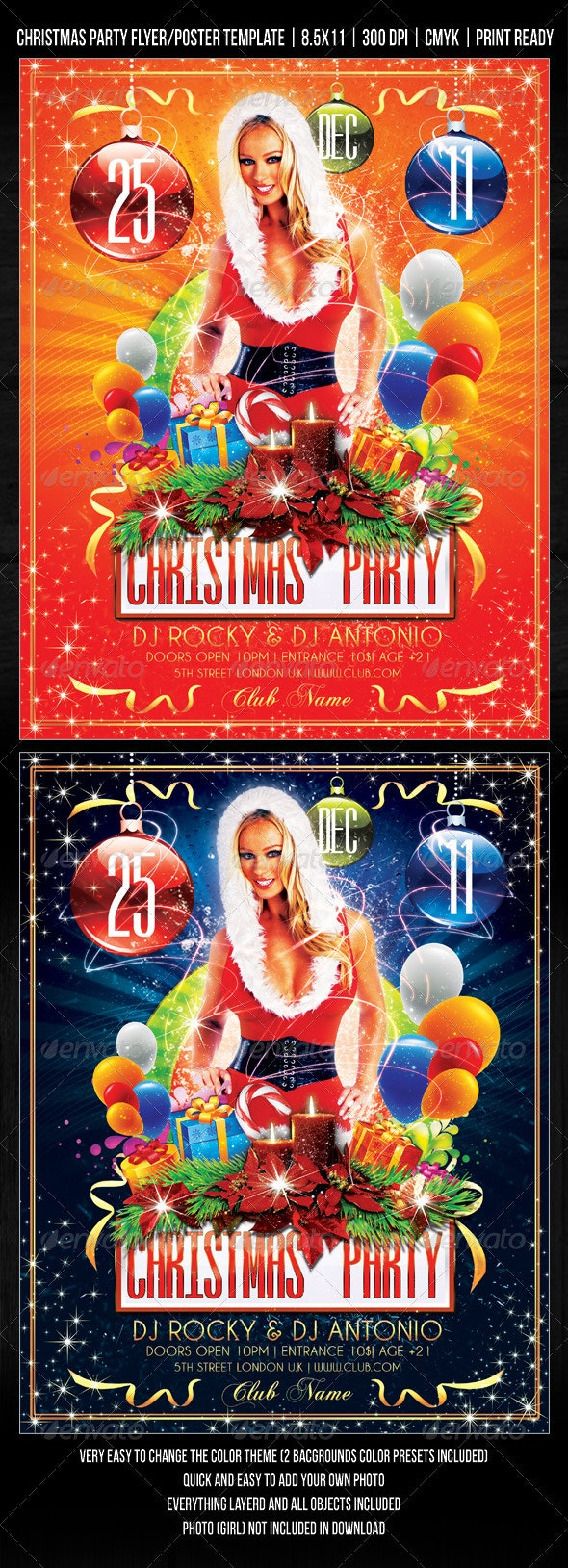 Christmas  Party / Concert Flyer / Poster Design - Clubs & Parties Events