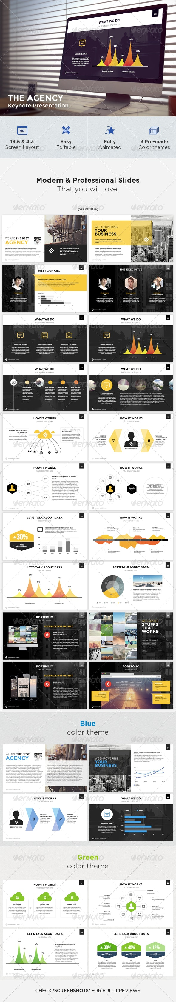 The Agency - Modern Keynote Template - Keynote Templates Presentation Templates