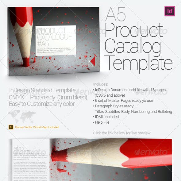 A5 Product Catalog Template