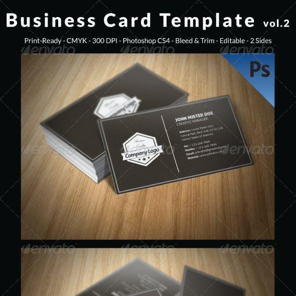 Business Card Template vol.2