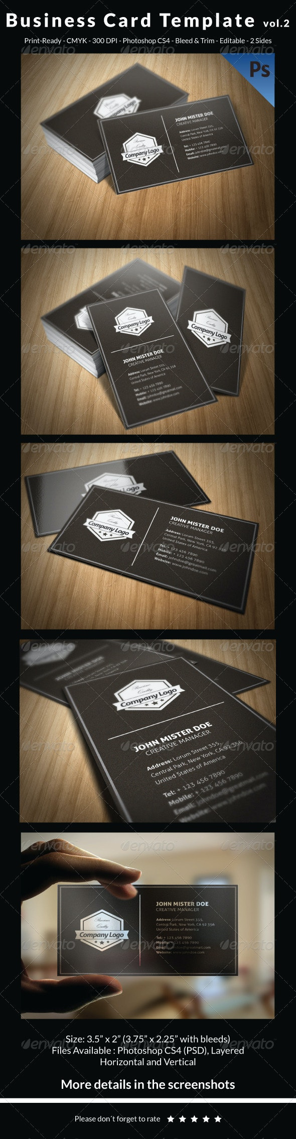 Business Card Template vol.2 - Retro/Vintage Business Cards