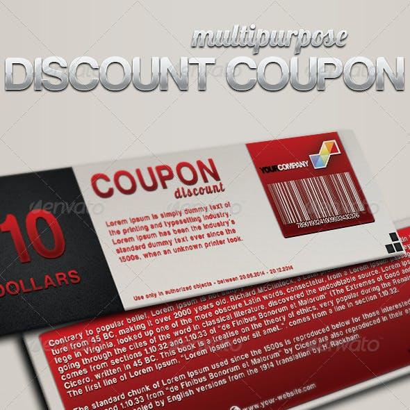 Multipurpose discount coupon