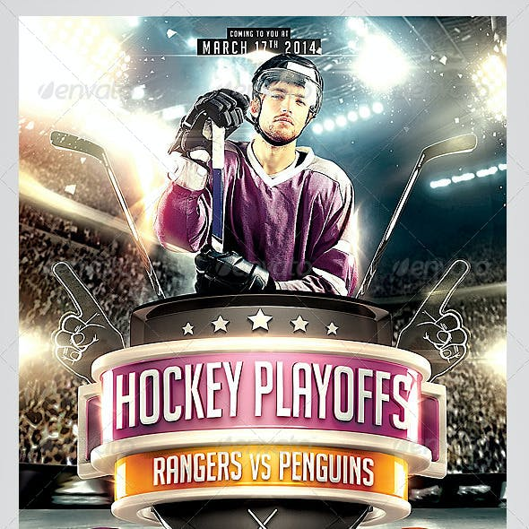Hockey Playoffs Flyer template
