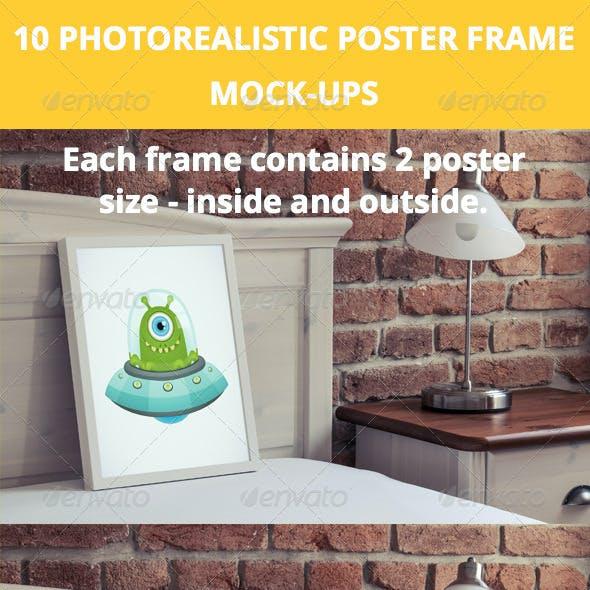 10 Poster Frame Mock-Ups in luxury interior