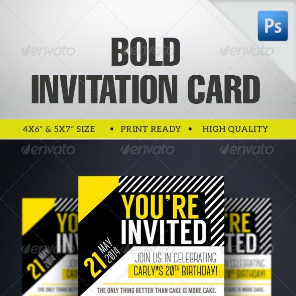Multipurpose Bold Invitation Card